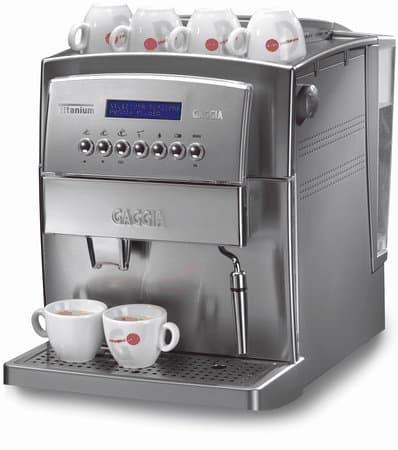 High End Coffee Maker Reviews 2015 : Commercial Gaggia Titanium Office Superautomatic Espresso Machine Review