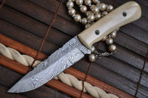 best bone handle hunting knife-Handcrafted-Damascus-Hunting-Knife-Consumer-Files