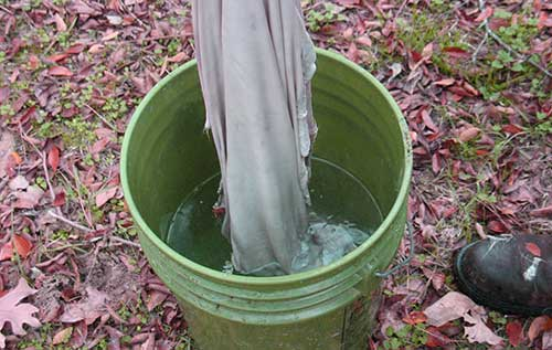 An Image of Rawhide Cleaning By Rinse Water of How to Make and Use Rawhide