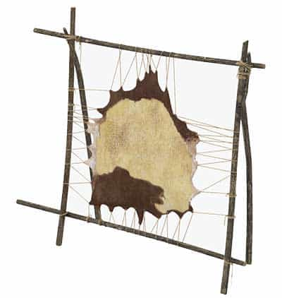 An Image of Tanning Rack of How to Make and Use Rawhide
