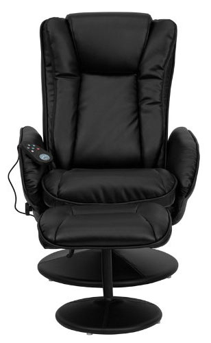 An Image of T&D Massaging Recliner Black Massage Chair for T&D Massaging Recliner Review