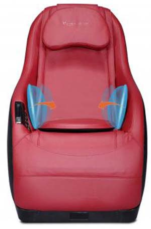 An Image of Curved Video Gaming Shiatsu Massage Chair Red Color for BestMassage Curved Video Gaming Shiatsu Massage