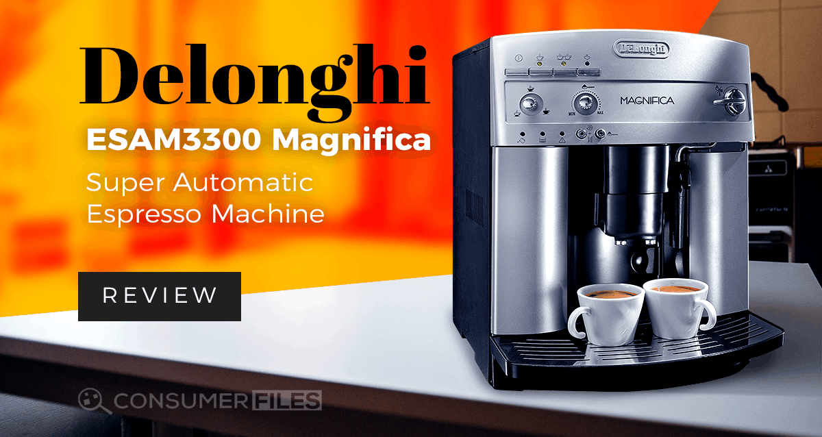 delonghi esam3300 magnifica super automatic espresso coffee machine review 2018 consumer files. Black Bedroom Furniture Sets. Home Design Ideas