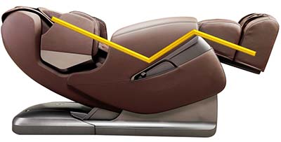 Apex Lotus massage chair features two stages of Zero Gravity