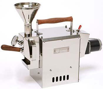 An image of Kaldi Home coffee roaster with analog temperature probe