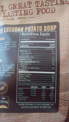 An Image of Nutrition Facts: Irish Pub Soup