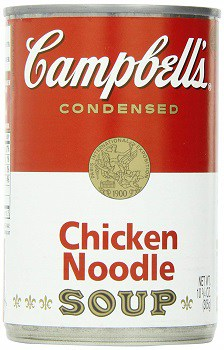 Chicken Noodle Soup Can for August Food Report