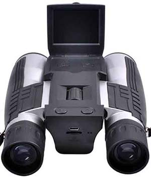 Black, Super Thin, Pyrus Digital Camera Binoculars PY21S03212