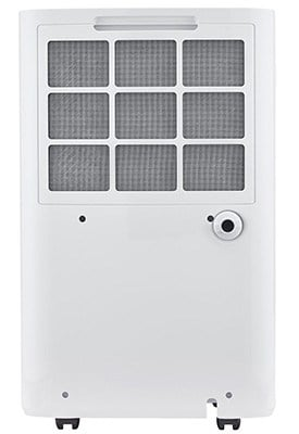 White Color, Haier 70 Pint Dehumidifier with Pump, Back View