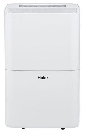White Color, Haier 70 Pint Dehumidifier with Pump, Frontview