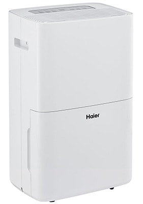 White Color, Haier 70 Pint Dehumidifier with Pump, Leftfront
