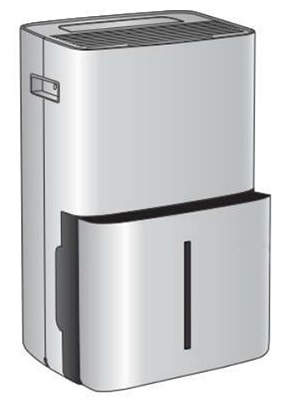 Water Extraction, Haier 70 Pint Dehumidifier with Pump, Frontview