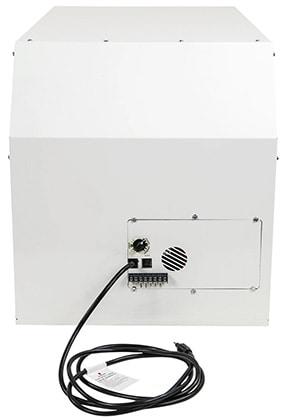 Back View, Quest Dual 105 Overhead Dehumidifier, White Color