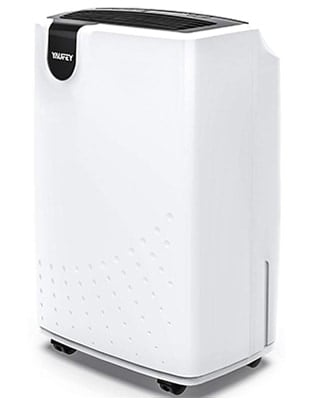 White Color, Yaufey 30 Pint Dehumidifier, Rightfront