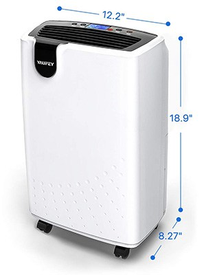 Specification Stats, Yaufey 30 Pint Dehumidifier, White Color