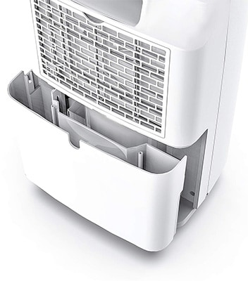 Water Extraction, Yaufey 30 Pint Dehumidifier, Backview