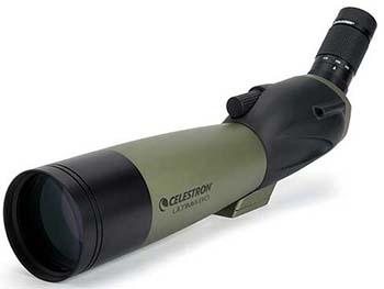 Green, Sharp Zoom Eyepiece Function, Celestron 52250 80mm Ultima Spotting Scope