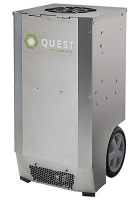 Grey Color, Quest CDG174 Dehumidifier, Rightfront
