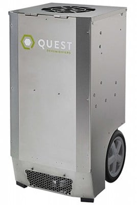 Grey Color, Quest CDG174 Dehumidifier, Rightfront