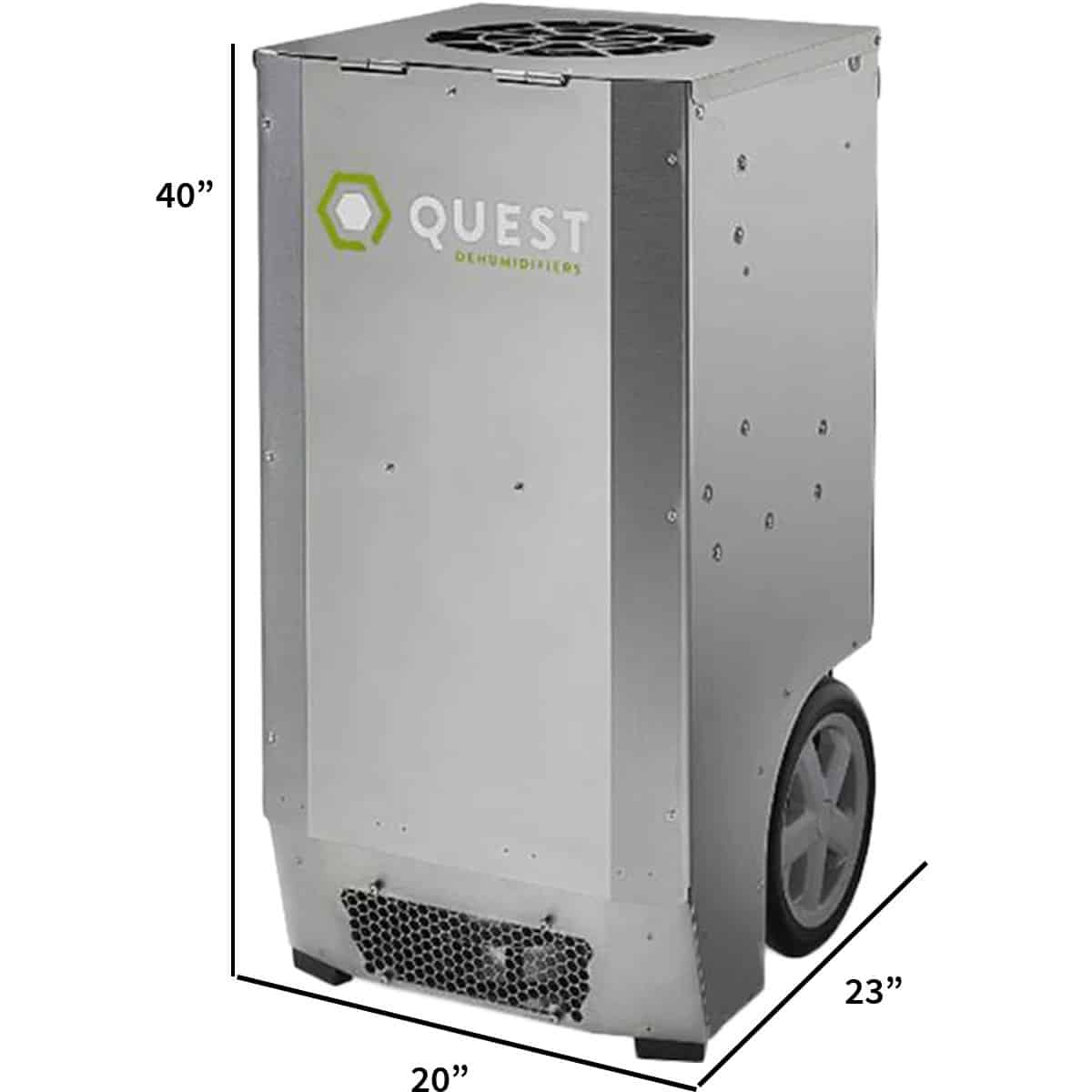 Specification Stats, Quest CDG174 Dehumidifier, Rightfront