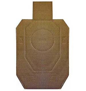 Cardboard target used for all IDPA shooting matches