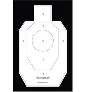 Officially Licensed Paper IDPA practice target, Law Enforcement Targets IDPA