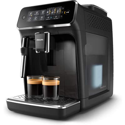 Philips Lattego 3200 Side View With Two shots of espresso