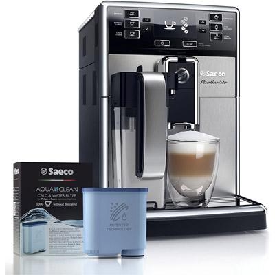 Saeco PicoBaristo Super-Automatic Espresso Machine Stainless Steel with Aqua Cleaner