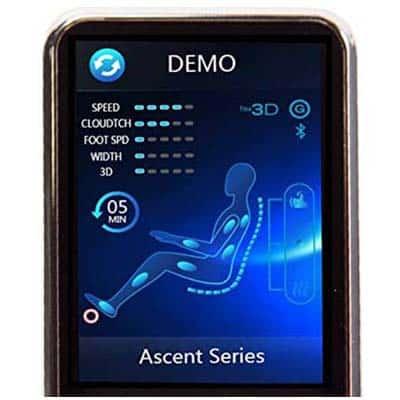 Human Touch Novo XT2 Remote Control Screen