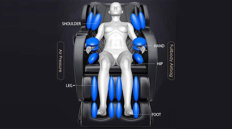 Air Massage for Massage Chair Programs After a Workout