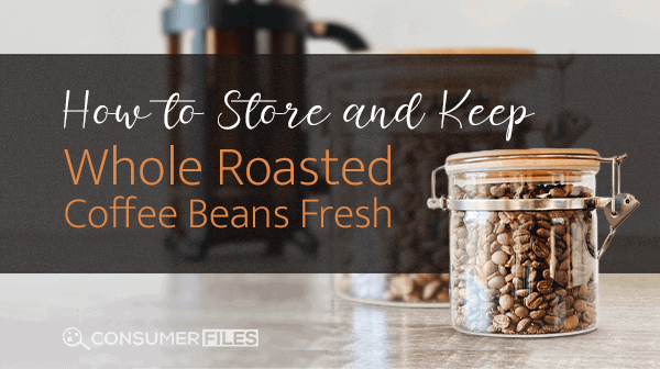 Coffee Beans in a clear container