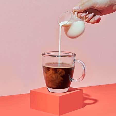 Black coffee with milk