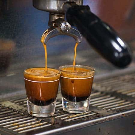 Double espresso shots