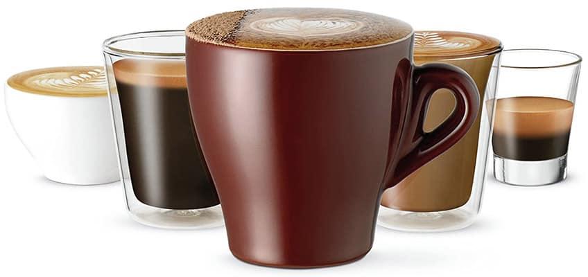 Creatista Plus Nespresso Coffee drinks