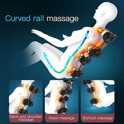 Ootori Nova N500 Zero Gravity Massage Chair 3D Graphics of Roller Massage