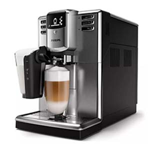 Philips 5000 LatteGo with a serving of tall cappuccino