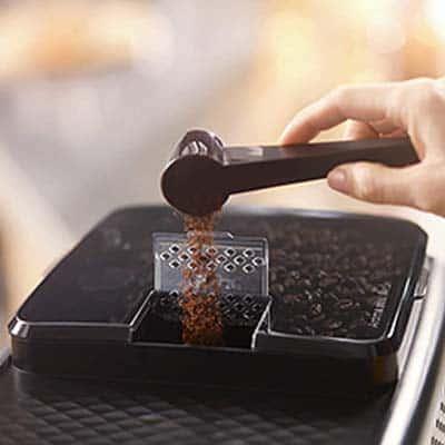 Adding Coffee with Spoon in Philips 3200 LatteGo Automatic Espresso Machine