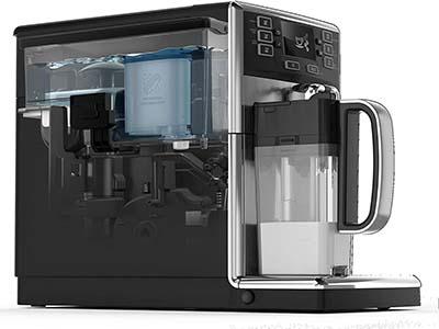 Side of Saeco PicoBaristo Super-Automatic Espresso Machine