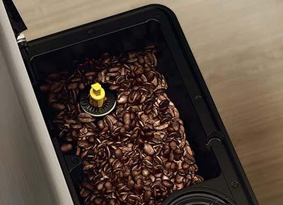 Saeco PicoBaristo Super-Automatic Espresso Machine Grinder Upper View