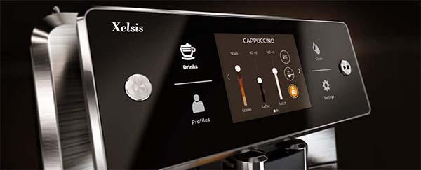Saeco Xelsis SM7684 Espresso Machine Control panel