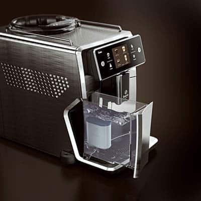 Saeco Xelsis SM7684 Espresso Machine Left view